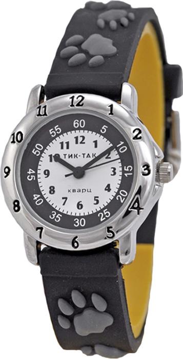 Часы наручные детские Тик-Так Серые лапы, цвет: черный часы наручные детские тик так звезды цвет черный 114 4