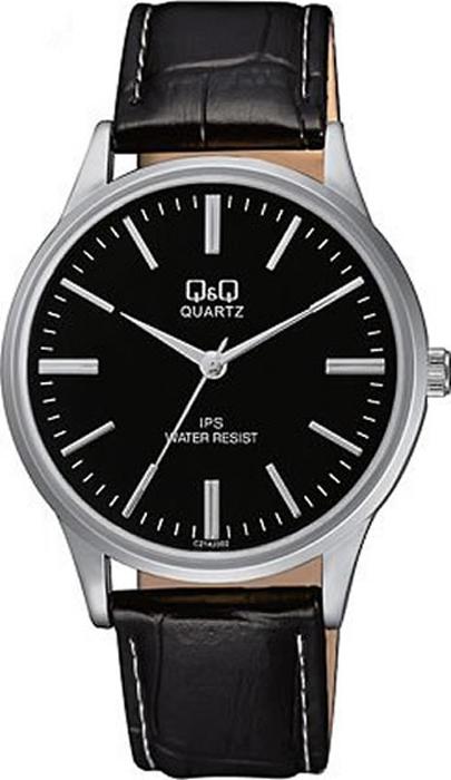 Часы наручные мужские Q & Q, цвет: черный. C214-302 q