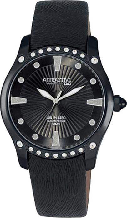 Часы наручные женские Q & Q, цвет: черный. DA27-502