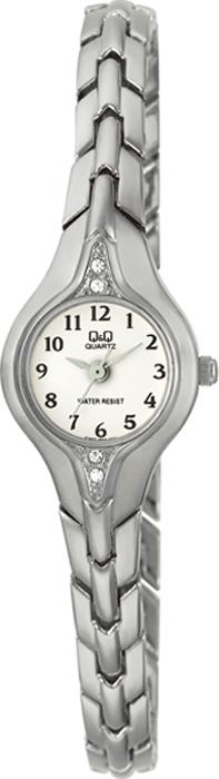 Часы наручные женские Q & Q, цвет: серебристый. F307-204 q