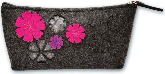 Цветы на молнии аппликация из фетра котёнок с мячом с2564 10