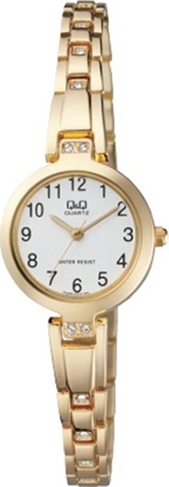 Часы наручные женские Q & Q, цвет: золотистый. F629-004 q