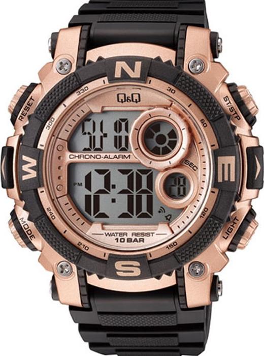 Часы наручные мужские Q & Q, цвет: черный. M133-005 q