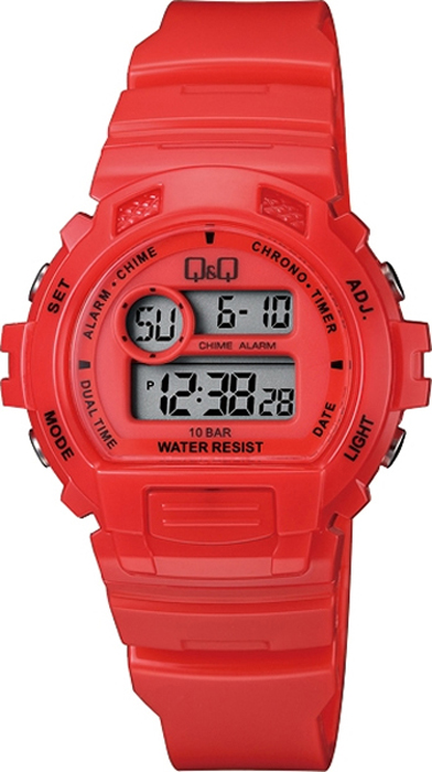 Часы наручные мужские Q & Q, цвет: красный. M153-004 мужские часы q and q vq66 002