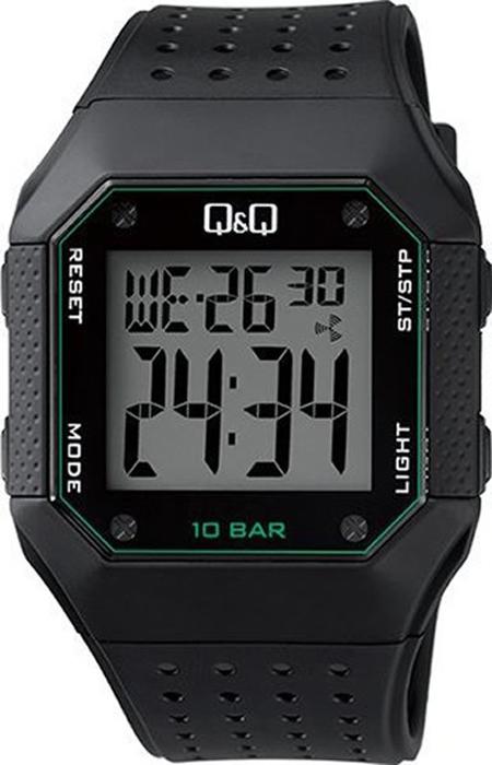 Часы наручные мужские Q & Q, цвет: черный. M158-004 q