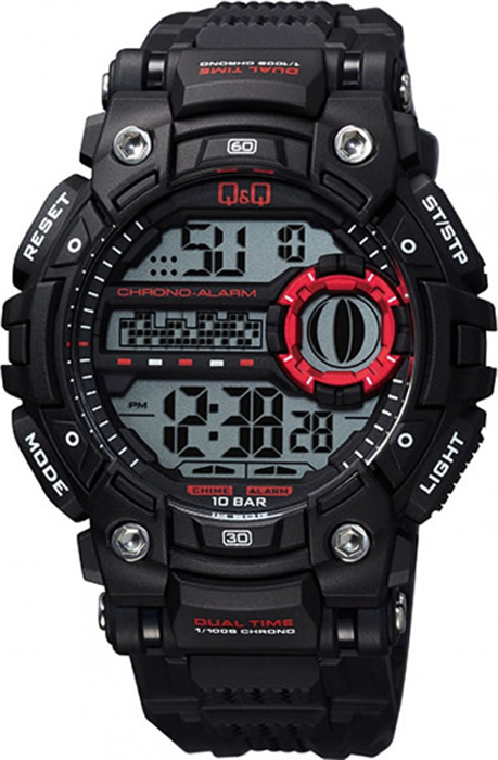 Часы наручные мужские Q & Q, цвет: черный. M161-001 мужские часы q and q vq66 002