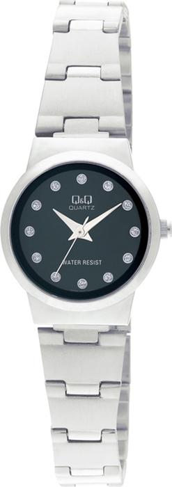 Часы наручные женские Q & Q, цвет: серебристый. Q399-202 цена и фото