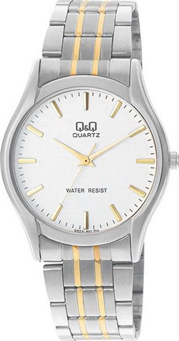 Часы наручные мужские Q & Q, цвет: серебристый. Q550-401 q