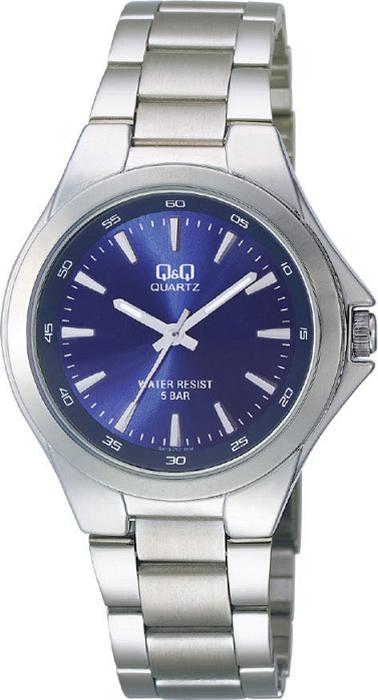Часы наручные мужские Q & Q, цвет: серебристый. Q618-212 q
