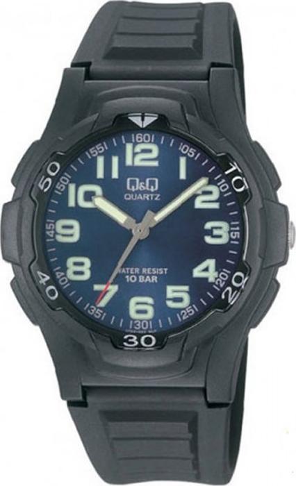 Часы наручные мужские Q & Q, цвет: черный. VP84-003 q