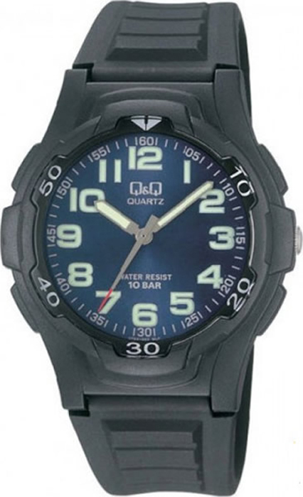 Часы наручные мужские Q & Q, цвет: черный. VP84-003 мужские часы q and q vq66 002