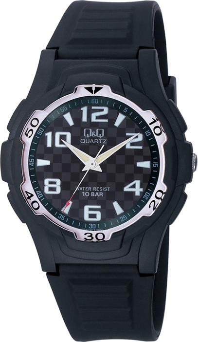 Часы наручные мужские Q & Q, цвет: черный. VP84-012 часы наручные мужские q