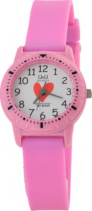 Часы наручные детские Q & Q, цвет: розовый. VR15-008 q