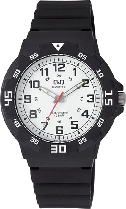 Часы наручные мужские Q & Q, цвет: черный. VR18-003 q