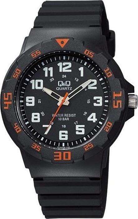 Часы наручные мужские Q & Q, цвет: черный. VR18-008 цена и фото