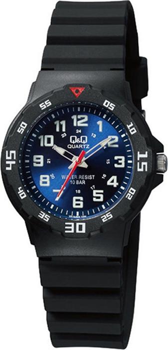 Часы наручные мужские Q & Q, цвет: черный. VR19-005 цена и фото