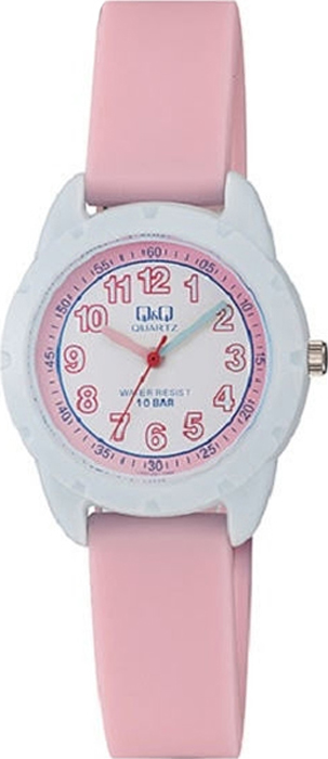 Часы наручные детские Q & Q, цвет: розовый. VR97-001 цена и фото