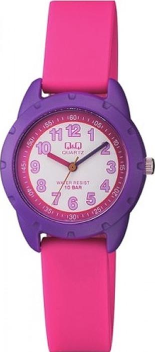 Часы наручные детские Q & Q, цвет: розовый. VR97-003 все цены