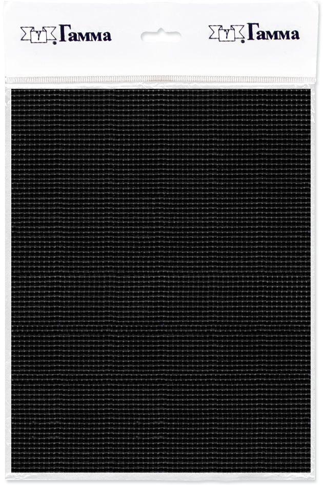 Канва для вышивки Gamma Aida №14, цвет: черный, 30 х 40 см. K04