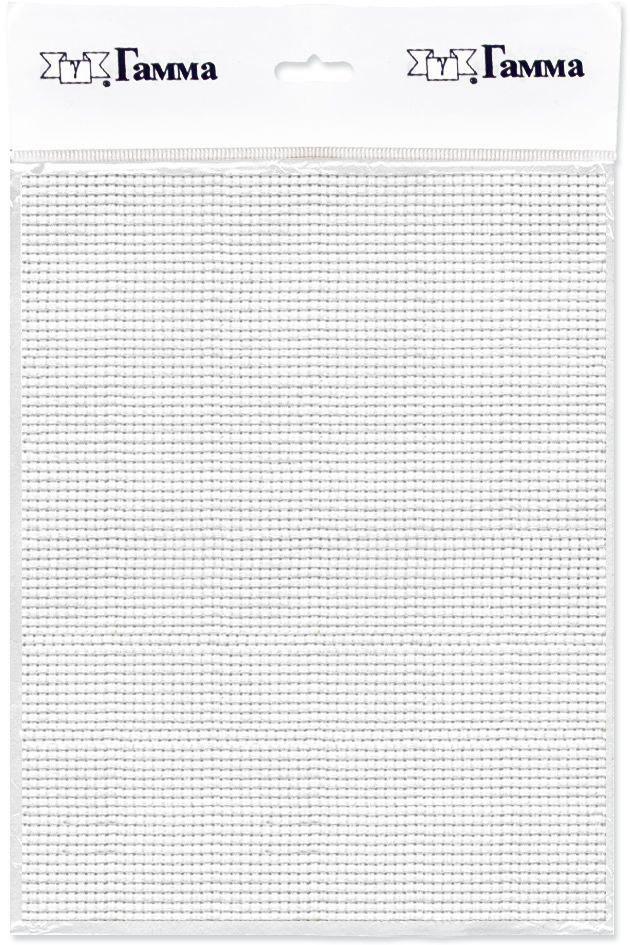 канва для вышивки gamma aida 11 цвет голубой 30 х 40 см k03 Канва для вышивки Gamma Aida №11, цвет: белый, 30 х 40 см. K03