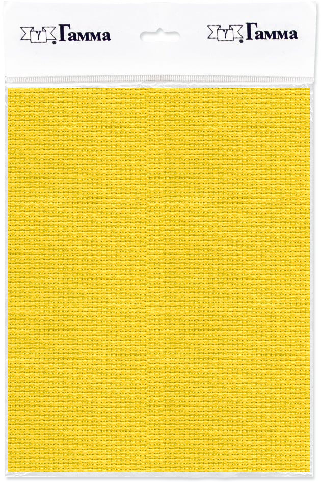 Канва для вышивки Gamma Aida №14, цвет: желтый, 30 х 40 см. K04K04Канва К04 Гамма-ткань для вышивания. Состав: 100%хлопок Кол-во клеток: в 10см-55, в 1дюйме-14. Размер: 30х40 см (Плотность: 220г/кв.м) Канва используется в качестве основы для вышивания крестом, полукрестом. Канва достаточно жесткая, плотная и позволяет вышивать без использования пялец.