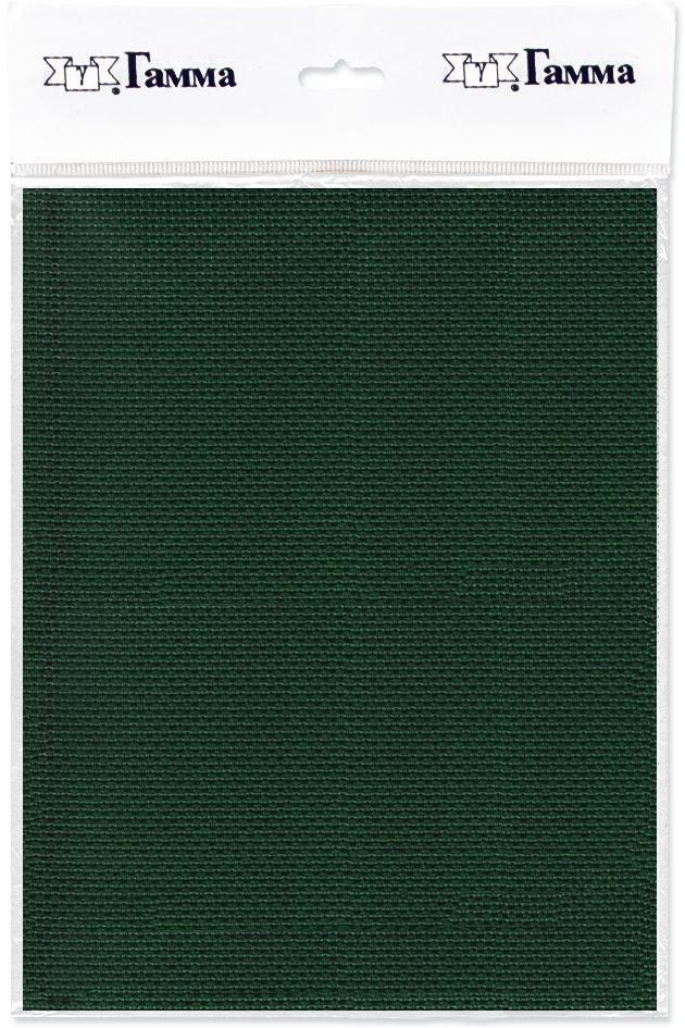Канва для вышивки Gamma Aida №14, цвет: темно-зеленый, 30 х 40 см. K04 александр кушнер канва