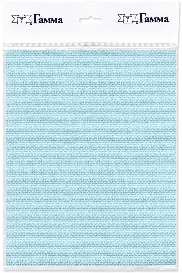 канва для вышивки gamma aida 11 цвет голубой 30 х 40 см k03 Канва для вышивки Gamma Aida №14, цвет: светло-голубой, 30 х 40 см. K04