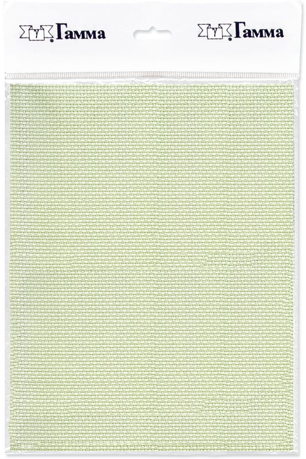 канва для вышивки gamma aida 11 цвет голубой 30 х 40 см k03 Канва для вышивки Gamma Aida №11, цвет: салатовый, 30 х 40 см. K03