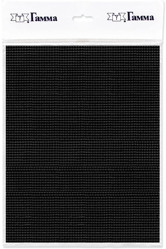 канва для вышивки gamma aida 11 цвет голубой 30 х 40 см k03 Канва для вышивки Gamma Aida №11, цвет: черный, 30 х 40 см. K03