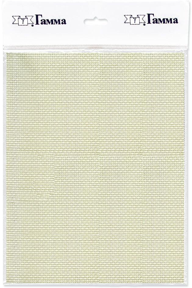 канва для вышивки gamma aida 11 цвет голубой 30 х 40 см k03 Канва для вышивки Gamma Aida №11, цвет: кремовый, 30 х 40 см. K03