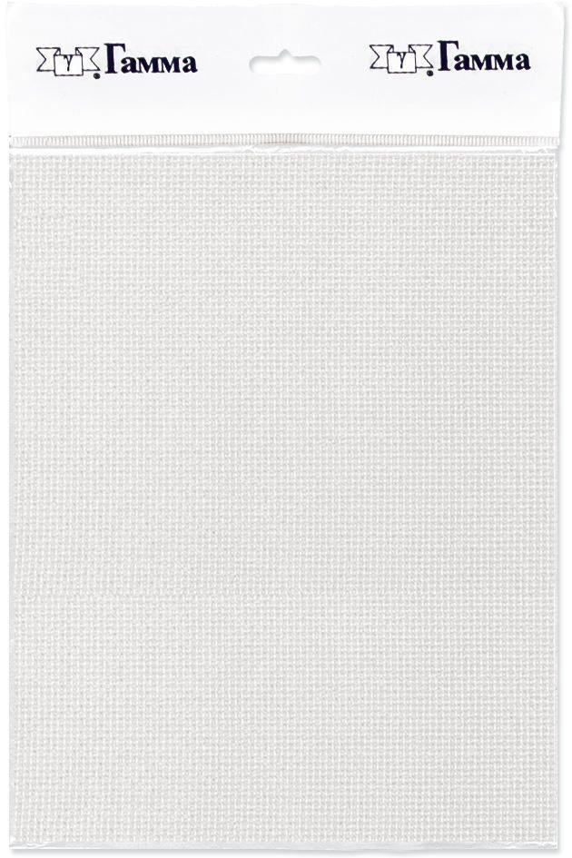 Канва для вышивки Gamma Aida №18, цвет: белый, 50 х 50 см. K18