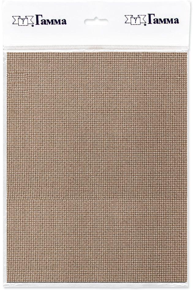 Канва для вышивки Gamma Aida №16, цвет: серо-коричневый, 50 х 50 см. K16 aida 16 594