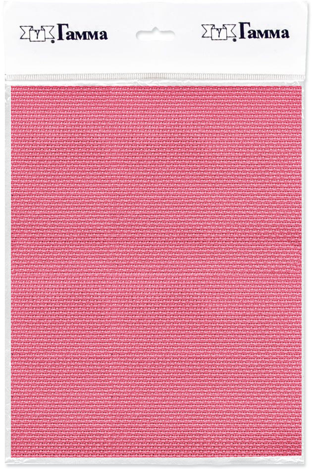 Канва для вышивки Gamma Aida №14, цвет: розовый, 150 х 100 см. K04K04Канва К04 Гамма-ткань для вышивания. Состав:100%хлопок Кол-во клеток: в 10см-55,в 1дюйме-14. Размер:100х150см Канва используется в качестве основы для вышивания крестом, полукрестом. Канва достаточно жесткая, плотная и позволяет вышивать без использования пялец.