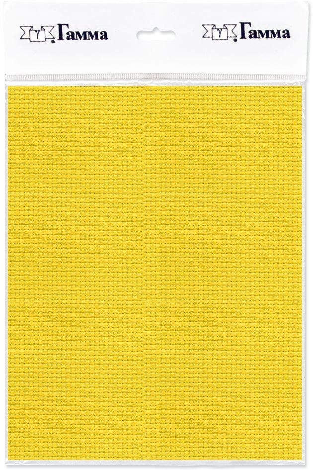 Канва для вышивки Gamma Aida №14, цвет: желтый, 150 х 100 см. K04