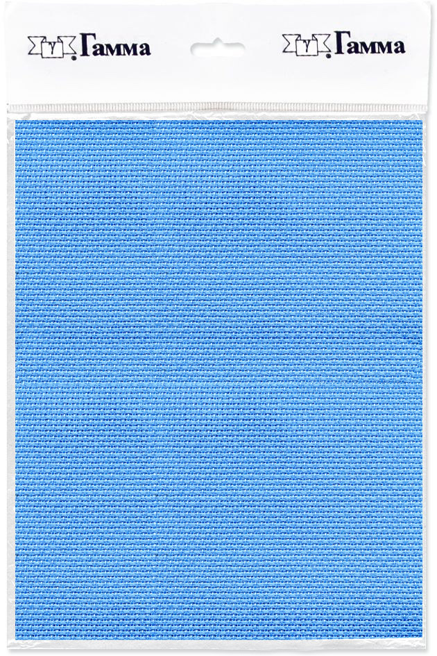 канва для вышивки gamma aida 11 цвет голубой 30 х 40 см k03 Канва для вышивки Gamma Aida №11, цвет: голубой, 150 х 100 см. K03