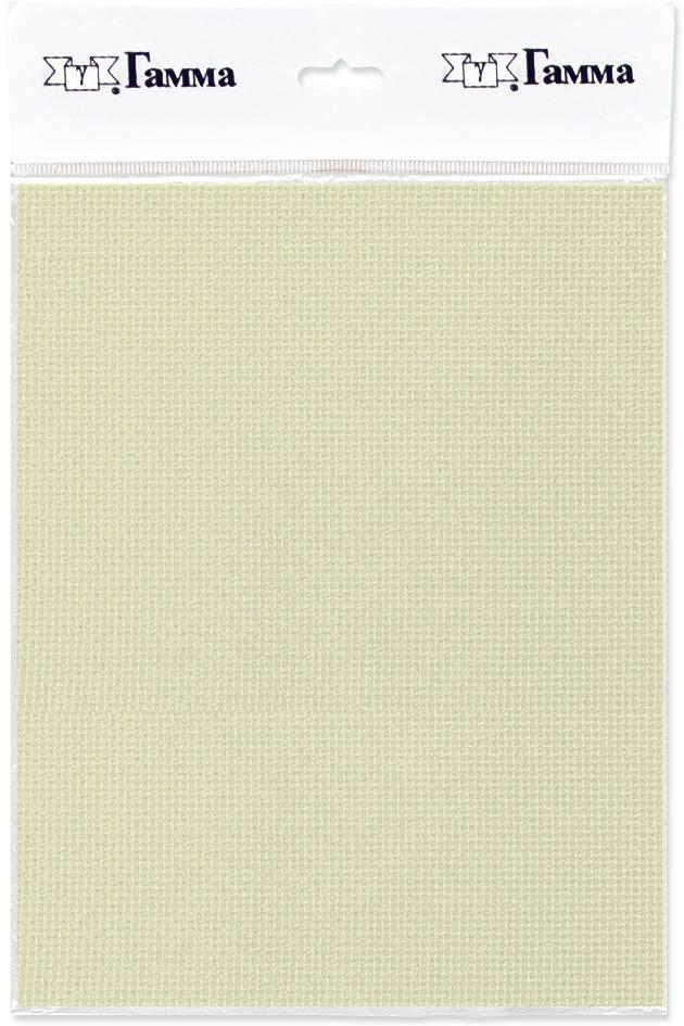 Канва для вышивки Gamma Aida №18, цвет: кремовый, 150 х 100 см. K18