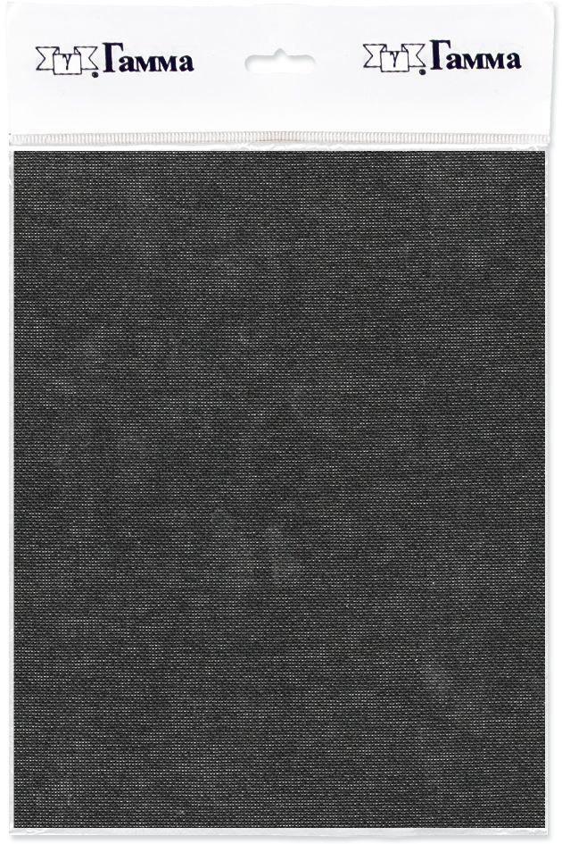 Канва для вышивки Gamma Linda, цвет: черный, 150 х 100 см. K27