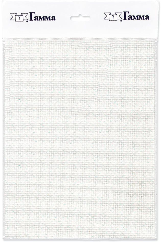 канва для вышивки gamma aida 11 цвет голубой 30 х 40 см k03 Канва для вышивки Gamma Aida №11, цвет: белый перламутровый, 30 х 40 см. K03L