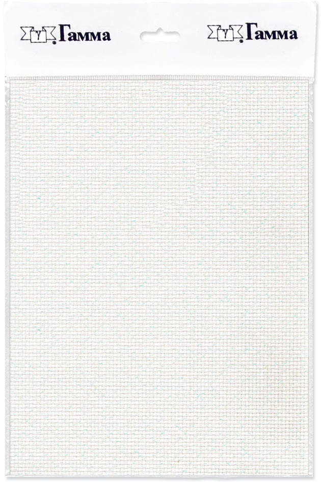 Канва для вышивки Gamma Aida №11, цвет: белый перламутровый, 50 х 50 см. K03L александр кушнер канва