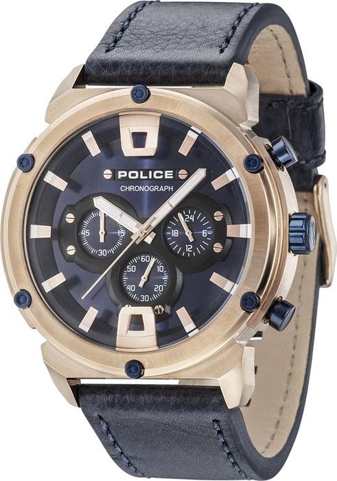 Наручные часы мужские Police, цвет: темно-синий. PL.15047JSR/03