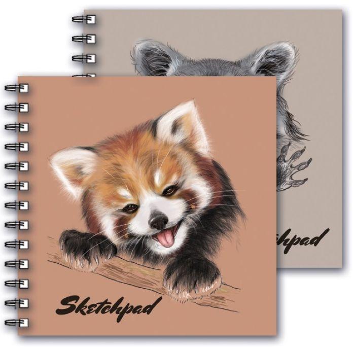 Скетчпад Феникс+ Забавные животные, 195 х 195 мм, 80 листов пилка хрустальная 195 f4 12 195