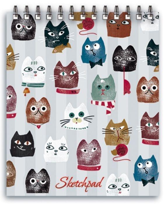 """Скетчпад Феникс+ """"Коты"""", A6, 60 листов"""
