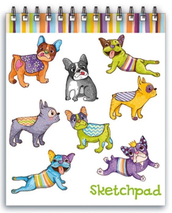Скетчпад Феникс+ Цветные собачки, A6, 60 листов тетрадь феникс цветные собачки 46966 48 листов