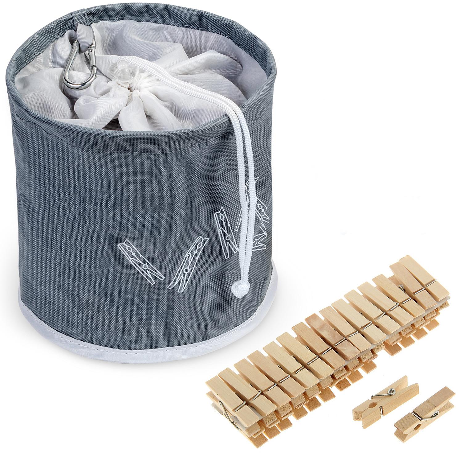 Набор прищепок Tatkraft Peggy, в сумке, 20 шт набор зажимов прищепок 10 шт