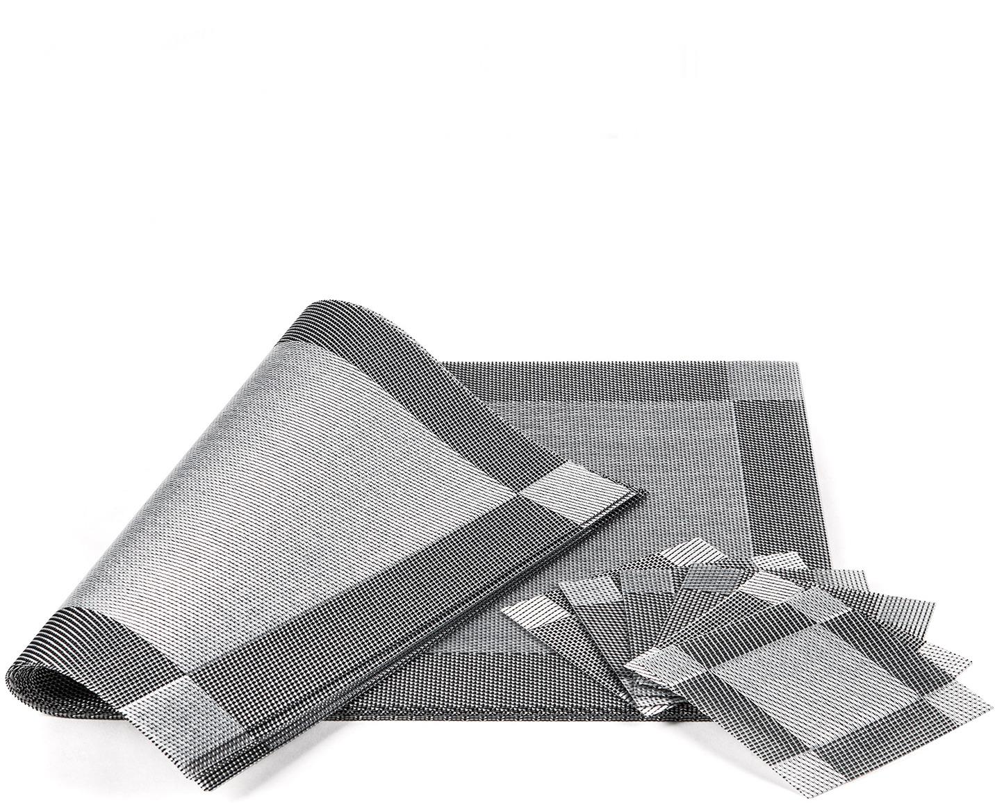Набор cалфеток под горячее Tatkraft First, с подставками под чашки20764Tatkraft FIRST Набор cалфеток под горячее с подставками под чашки, 6 шт., L45xH30xD0,2 см и L10xH10xD0,2 см, Водонепроницаемый и простой в уходе материал, Нескользящие, прочные и гибкие, защищают столешницу от царапин. Материал: ПВХ