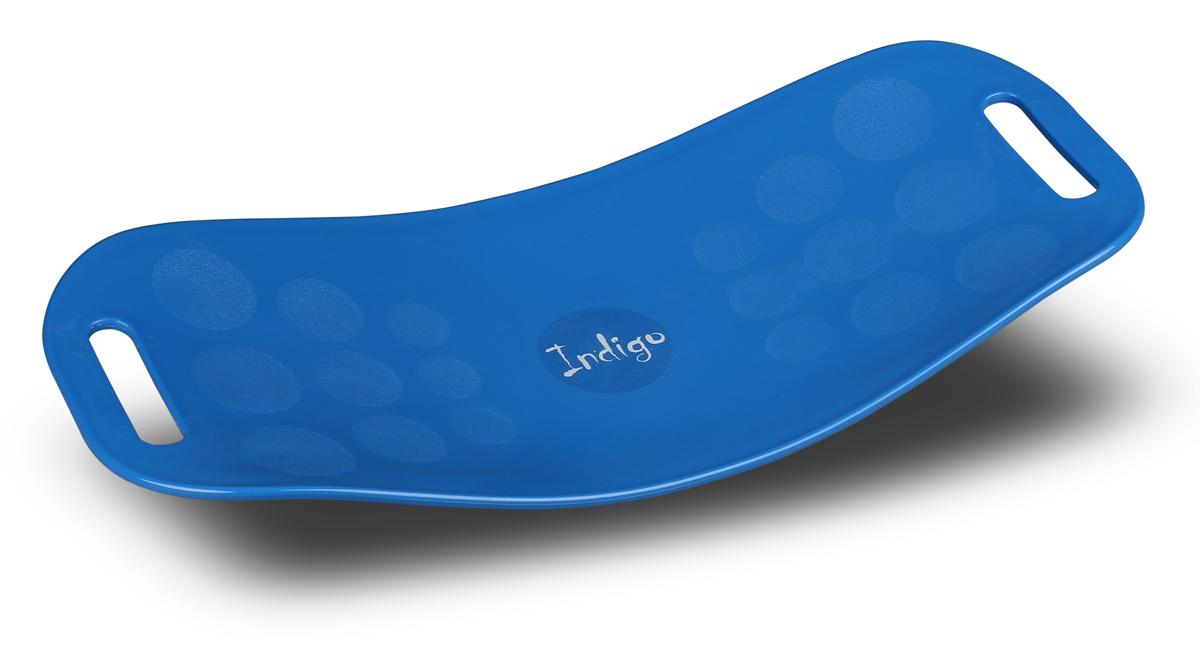 Доска балансировочная Indigo Workout Board Twist, цвет: голубой степ доска для аэробики indigo 3 уровня 72 х 36 см%2