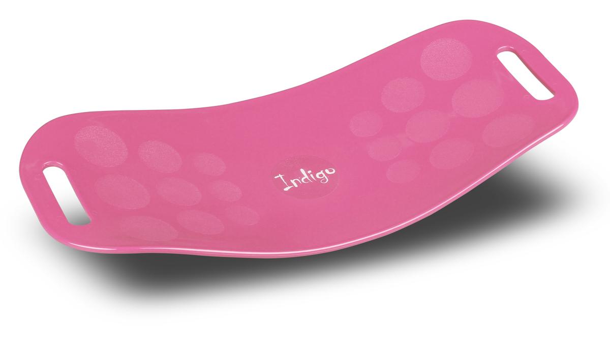 Доска балансировочная Indigo Workout Board Twist, цвет: розовый степ доска для аэробики indigo 3 уровня 72 х 36 см%2