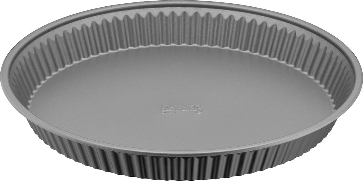 Форма для пирога и коржа Kaiser Inspiration, с антипригарным покрытием, с волнистыми краями, диаметр 30 см форма для пирога tefal easygrip 20х20 см j0835274