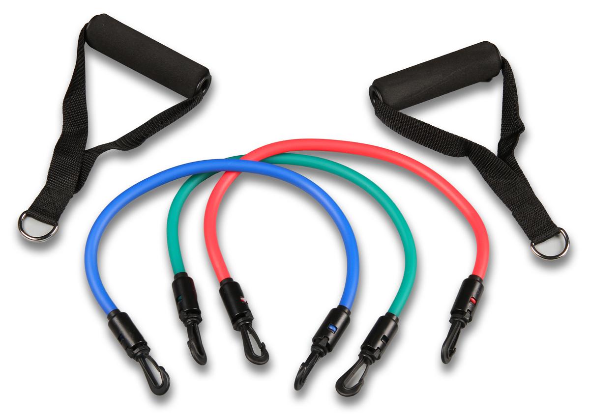 Эспандер плечевой Pro Supra 308-3, 3 жгута разной нагрузки, длина 48 см