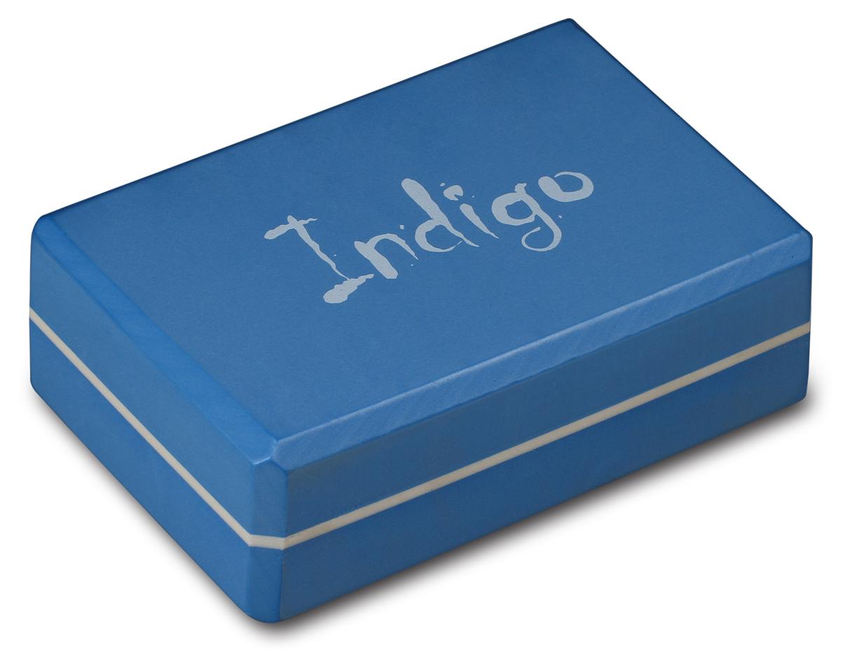 Блок для йоги Indigo, цвет: голубой недорго, оригинальная цена